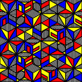 Bright colored cube geometric pattern in style of Royalty Free Stock Photography
