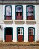 Bright colored facade Stock Photography