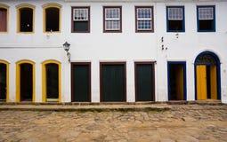 Bright colored facade Stock Image
