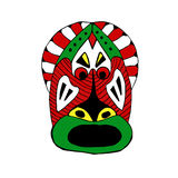 Bright colored face mask for the ritual cartoon style Royalty Free Stock Photography