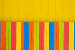 Bright Colored Fence Stock Image
