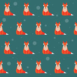 Bright colored fox seamless pattern background Stock Photography