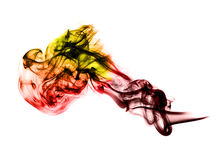Bright colored fume curves Royalty Free Stock Photos