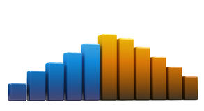Bright colored graph Royalty Free Stock Photography