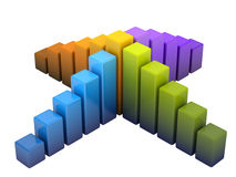 Bright colored graph Stock Photos