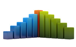 Bright colored graph Royalty Free Stock Photos