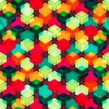 Bright colored grid seamless pattern Stock Photography