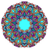Bright colored hand-drawing ornamental abstract lace background with many details for use in design Royalty Free Stock Photo