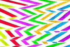 Bright colored hand drawn zigzag pattern. Stock Photos