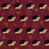 Bright colored hedgehog seamless pattern background Royalty Free Stock Images