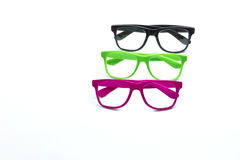 Bright colored hipster looking glasses Stock Photos