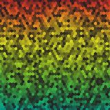 Bright colored honeycomb raindow background. Vector Stock Photography