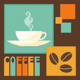 Bright colored illustration on the theme of coffee time for use in design Stock Photo
