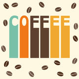 Bright colored illustration on the theme of coffee time for use in design Royalty Free Stock Images