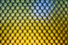 Bright colored LED video wall with high saturated pattern - close up background stock photography