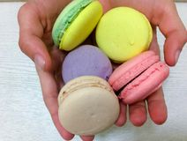 Bright colored macaroons Royalty Free Stock Images