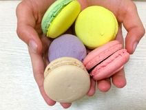 Bright colored macaroons Stock Image