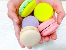 Bright colored macaroons  Stock Photo