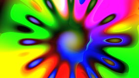 Bright colored mandala stock footage