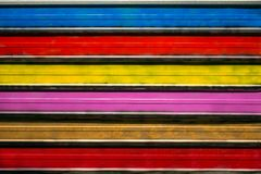 Bright colored metal profiled background. Colored abstract paint. Strips texture royalty free stock photo