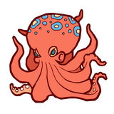 Bright colored octopus Royalty Free Stock Image