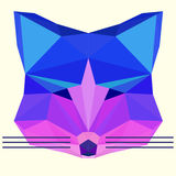 Bright colored olygonal fox Royalty Free Stock Photo