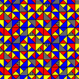 Bright colored pattern with squares and triangles Stock Photography
