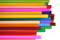 Bright colored pencils isolated on white Royalty Free Stock Image