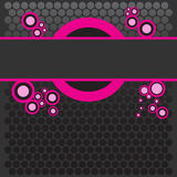 Bright colored pink banner wit Royalty Free Stock Image