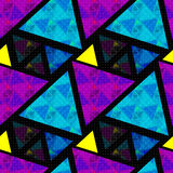 Bright colored polygons. abstract psychedelic background. seamless pattern.  Royalty Free Stock Images