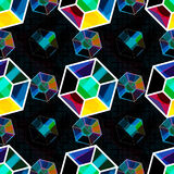 Bright colored polygons Abstract seamless geometrical pattern. EPS 10 vector royalty free stock illustration Stock Photography