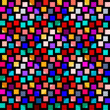 Bright colored polygons on a black background seamless pattern Stock Photo