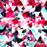 Bright colored polygons geometric abstract seamless pattern grunge texture. Vector eps 10 Royalty Free Stock Images