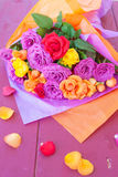 Bright colored roses Royalty Free Stock Images