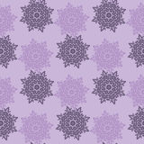 Bright colored seamless pattern of openwork stars.  Royalty Free Stock Images