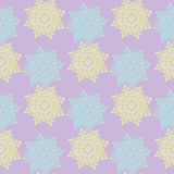 Bright colored seamless pattern of openwork stars.  Royalty Free Stock Image