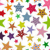 Bright colored stars background. Seamless pattern. Royalty Free Stock Images