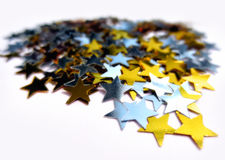 Bright colored stars Royalty Free Stock Images