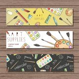 Bright colored stationery vector illustration