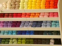 Bright colored threads. Mannheim, Germany (Deutschland) , Hallowen night 2014 stock photography