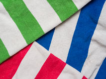 Bright colored towels Stock Image