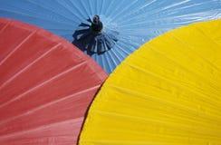 Bright colored umbrellas Stock Image