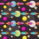 Bright colored vector space pattern background with colorful bri Royalty Free Stock Images