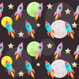 Bright colored vector space pattern background with colorful bri Stock Images