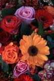Bright colored wedding arrangement Royalty Free Stock Photos