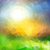 Bright colorful abstract background of geometric shapes. Royalty Free Stock Photography