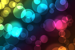 Awesome Digital Bokeh Effect. Bright colorful abstract bokeh circles for background use stock illustration