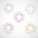 Bright colorful abstract circle templates Royalty Free Stock Photography