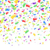 Bright colorful abstract festive confetti falling Stock Image