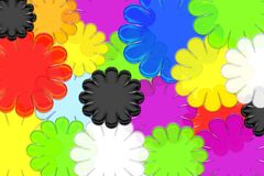 Bright and colorful abstract flowers create this vibrant background Royalty Free Stock Images